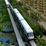 Монорельсовая дорога в Дубаи