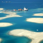 Строительство архипелага Мир, песочная насыпь