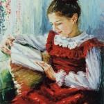 Barbara Jaśkiewicz-Socewicz. Czytająca dziewczyna. 2001