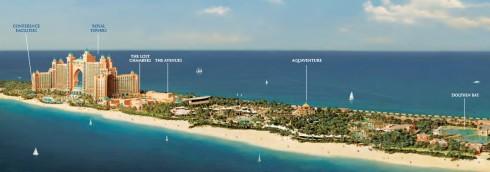 Схема расположения частей курортного комплекса Atlantis