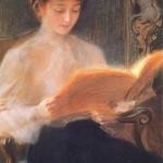 Teodor Axentowicz. Czytająca. 1899