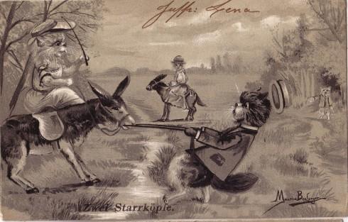 Старинные немецкие открытки с кошками (13)