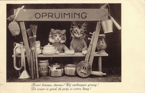 Старинные немецкие открытки с кошками (8)