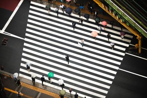 Пешеходные переходы Нью-Йорка и Токио (6)